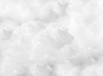 Fototapeta white fluffy cumulus clouds full flame