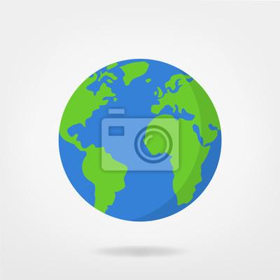 Fototapeta wiata ilustracji - planeta Ziemia grafiki wektorowej