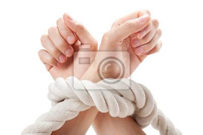wiązanej ręce