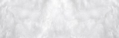 Fototapeta Wide animal white wool sheep background in top view light natural. Grey fluffy seamless cotton panoramic texture. Wrinkled lamb fur coat skin, rug mat raw material,  fleece woolly textile concept