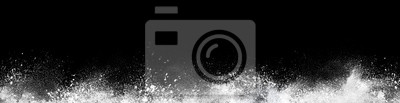 Fototapeta Wide design of abstract powder dust explosion over black background