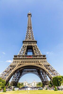 Fototapeta Widok budowy wieży Eiffla, Paryż