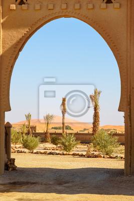 Widok Erg Chebbi Wydmy piaszczyste w pobliżu Merzouga, Maroko