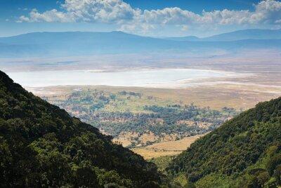Fototapeta widok krateru Ngorongoro