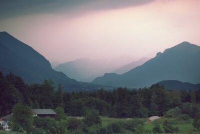 Fototapeta Widok na austriackie Alpy w pobliżu Salzburga