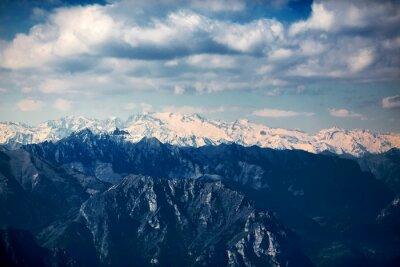 Fototapeta Widok na Jezioro Garda z Góry Monte Baldo. Włochy, Dolomity.
