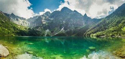 Fototapeta Widok na jezioro w górach