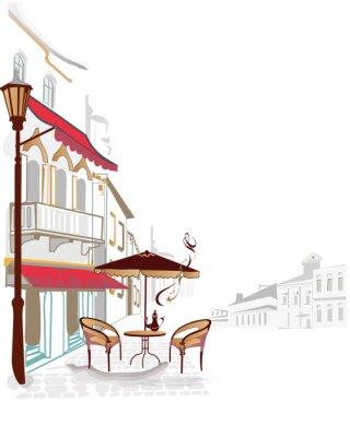 Fototapeta Widok na miasto z przytulnych kawiarenek