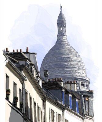 Fototapeta widok na Montmartre w Paryżu