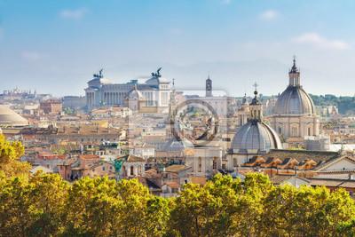 Fototapeta widok na panoramę miasta Rzym w dzień, Włochy