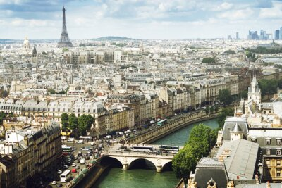 Fototapeta Widok na Paryż, Francja