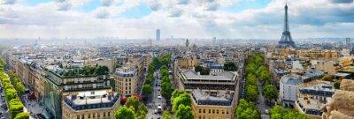 Fototapeta Widok na Paryż z Łuku Triumfalnego. . Paryż. Francja.