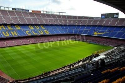 Fototapeta Widok na trybunie stadionu Camp Nou w czasie trasy koncertowej scenie