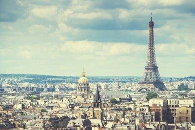 Fototapeta Widok na Wieżę Eiffla, Paryż, Francja