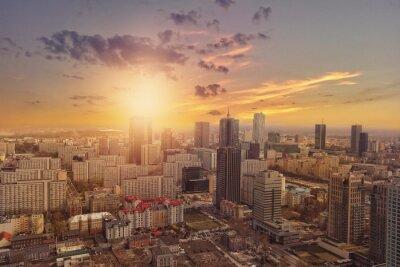 Fototapeta Widok Warszawy z powietrza