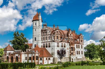 Fototapeta Widok z boku Schloss Basedowa, MV