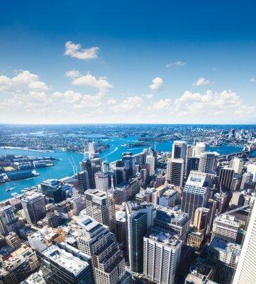 Fototapeta Widok z centrum miasta w kierunku Wieża w Sydney, Australia.