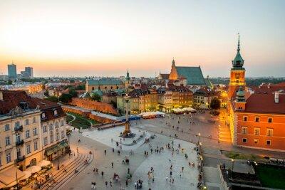 Fototapeta Widok z góry na Starym Mieście w Warszawie