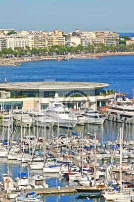 Widok z lotu ptaka Cannes, południowej Francji
