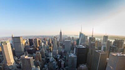 Fototapeta Widok z lotu ptaka Manhattanie, Nowy Jork