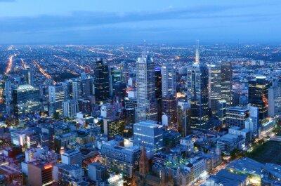 Fototapeta Widok z lotu ptaka Melbourne w Australii