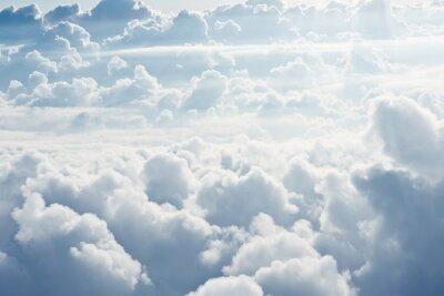 Fototapeta Widok z lotu ptaka na białym puszyste chmury