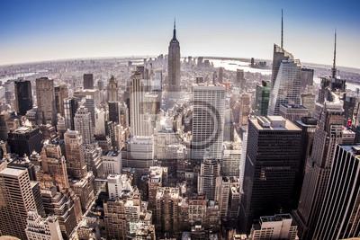 Fototapeta Widok z lotu ptaka Nowy Jork