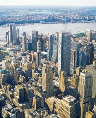Fototapeta Widok z lotu ptaka NYC.