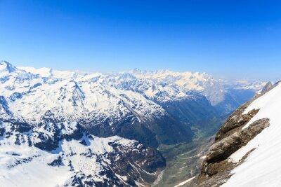 Fototapeta Widok z Mt. Titlis w Szwajcarii.