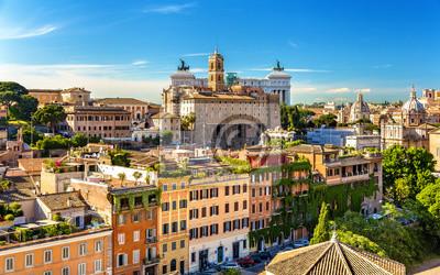 Fototapeta Widok z Palatynu Palazzo Senatorio - Rzym