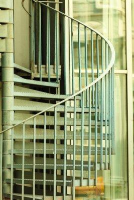 Fototapeta Widok z spiralne schody
