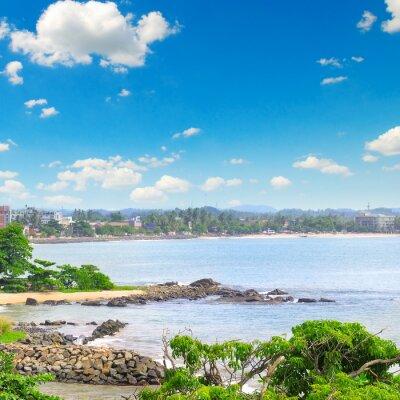 Fototapeta widoki miasta portowego na ocean (Galle Sri Lanka)