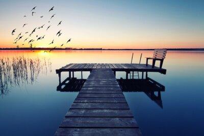 Fototapeta wieczór idylla jezioro