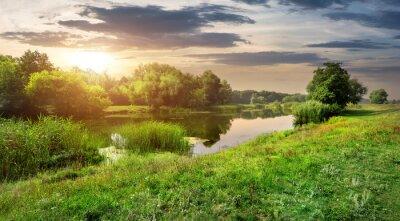 Fototapeta Wieczór nad rzeką