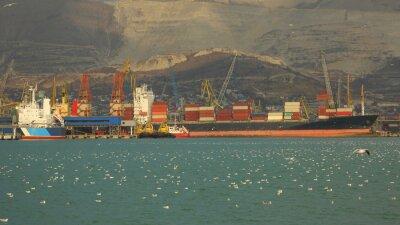 Fototapeta wielki port przeładunkowy