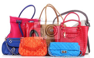 Wielu toreb kobiet kolor na biały