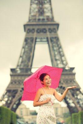 Fototapeta Wieża Eiffla Paryż kobieta