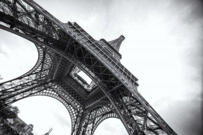 Fototapeta Wieża Eiffla w czerni i bieli