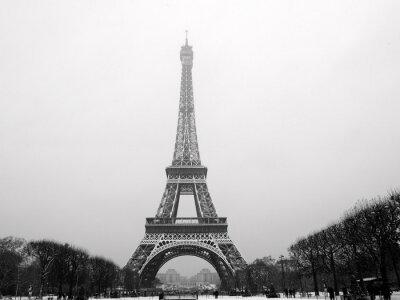 Fototapeta Wieża Eiffla w śniegu