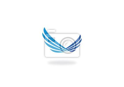 Fototapeta Wing fly abstrakcyjne wektora logo