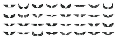 Fototapeta Wings icons set. Simple set of wings vector icons for web design on white background