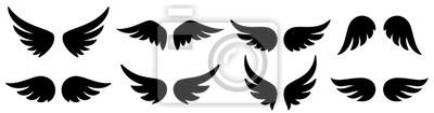 Fototapeta Wings icons set. Wing logo. Vector