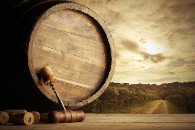 Fototapeta Winnica i cylinder