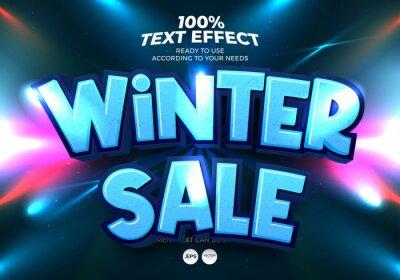 Fototapeta Winter Saler Text Effect