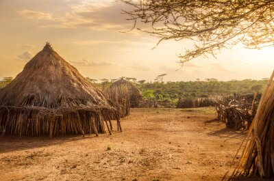 Fototapeta Wioska Hamer Turmi, Etiopii pobliżu