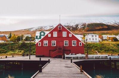 Fototapeta Wioska rybacka na wschodnim wybrzeżu Islandii