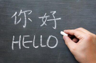 Fototapeta Witam - słowo napisane na rozmazany tablicy