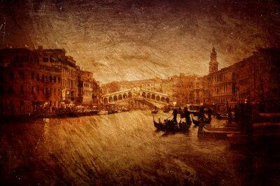 Fototapeta  wizerunek mostu Rialto w Wenecji