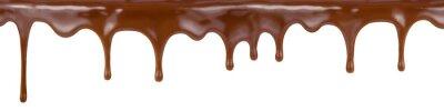 Fototapeta wlewając ciasto czekoladowe kapanie z góry samodzielnie na białym backg