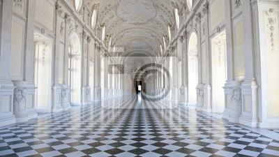 Fototapeta Włochy - Royal Palace: Galleria di Diana, Venaria